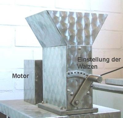 Elektro-Mühle zum Malz mahlen (Hobby) MMO 30 aus Edelstahl
