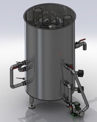 manuelle Kompaktwaschanlage mit Mehrkammersystem für Flaschen